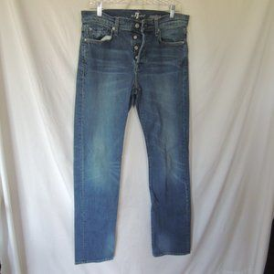 7 for all mankind standard mens jeans 33 button fl